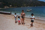 Janet and friends on the beach in Puerto Vallarta 1983