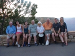 Ed Horvath (orange shirt) and family at Grand Canyon, June 2007. My mother, known as Mrs. Horvath to her students taught