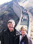 With Andrea at the Great Wall.