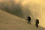 This photo was taken at daybreak on the way to the summit of Mt Elbrus-2005