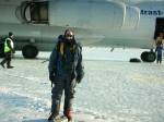 This photo was taken when we landed on the continent of Antarctica.  We flew on a charted Russian military jet and lande