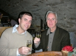 This is a photo of my son and me at a wine tasting in Burgundy-2007.