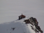 This is where we stayed on the 2008 ski tour.  It is the Don Sheldon Hut.  Pretty spectacular place, perched on the rock