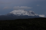 Another unusual photo as the upper part of the mountain of Kilimanjaro is covered in snow.