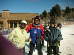 This is a photo of my daughter (in white on left) and me at Snowbasin, Utah-2007.