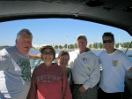 Again, on the Chesapeake with Jim Gorman, Jim Lyons, Walt Fedyna, Janet Toomey and me