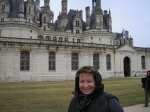 Dena at Chambord Chateaux in Loire Valley October 2008