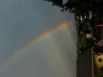 Another brilliant rainbow down the street